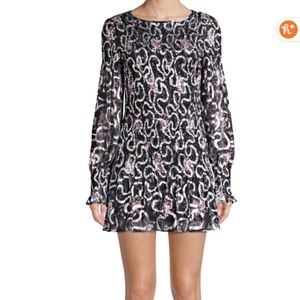 LOVESHACKFANCY Scarlett Mini Silk Dress NWT